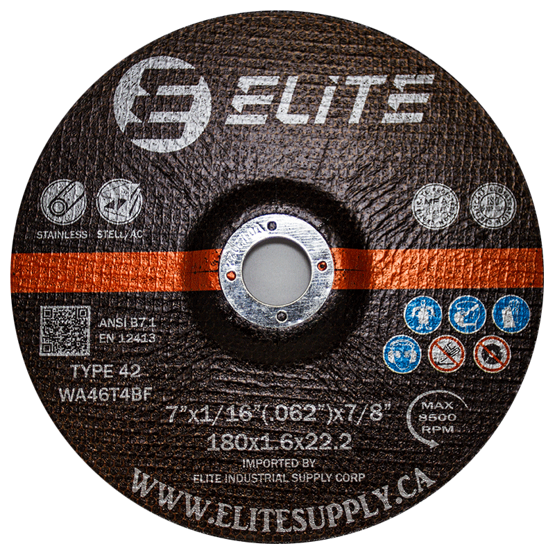 Cutting Disc 7″x1/16″x7/8″ Depressed