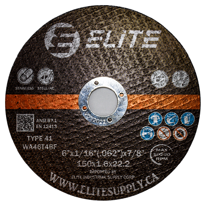 Cutting Disc 6″x1/16″x7/8″ Flat