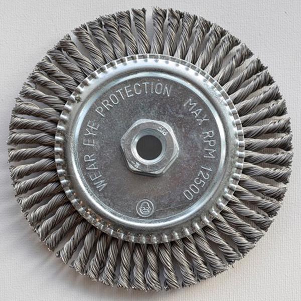 Stringer Bead Wire Wheel 6″ x 5/8-11″